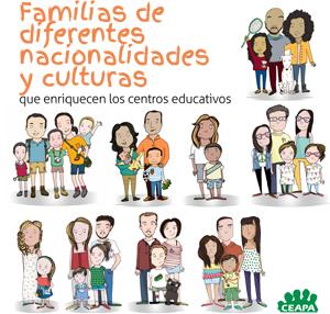 2 Familias de diferentes culturas y nacionalidades