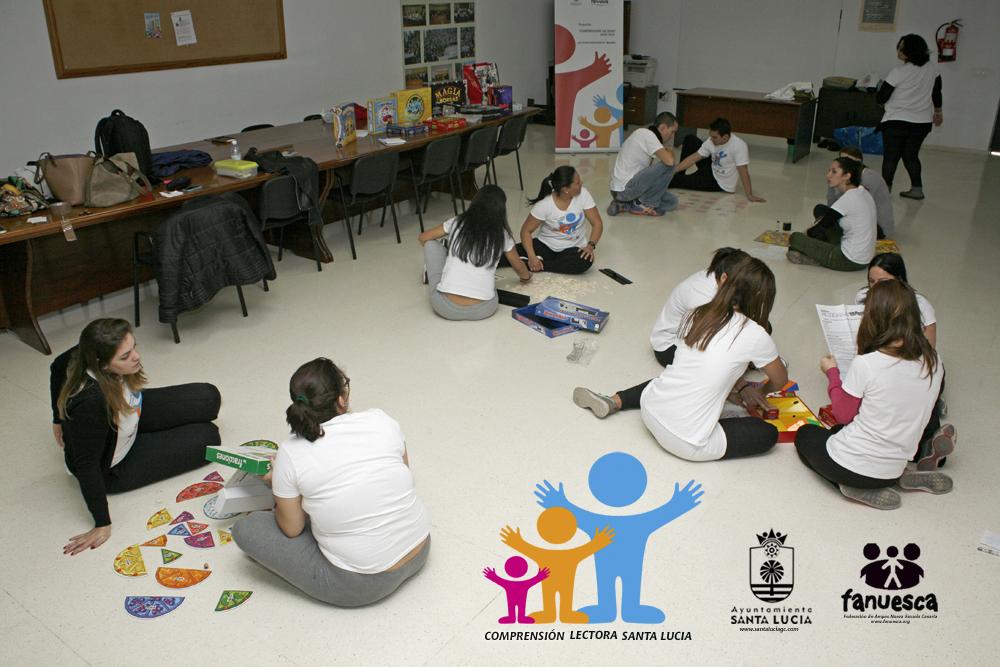 """Proyecto: """"Comprensión Lectora"""" …una forma entretenida de aprender. Ayuntamiento de Santa Lucía y Fanuesca (Federación de Ampas Nueva Escuela Canaria)"""